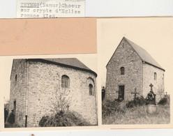 Thynes , ( Ciney , Dinant) , 2  Photos , L'église ,chapelle - Ciney