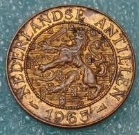 "Netherlands Antilles 2½ Cents, 1965 Mintmark ""Fish"" Before The Date - Antilles Neérlandaises"