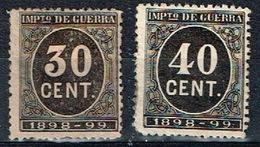 Impuesto De Guerra 1898-99, 30 Y 40 Cts - Impuestos De Guerra