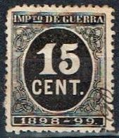 Impuesto De Guerra 1898-99, 15 Cts - Impuestos De Guerra