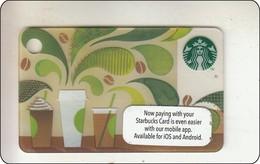 "Malaysia Starbucks Card  ""How To Make Coffee"" Mini  2014-6105 - Gift Cards"