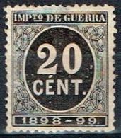 Impuesto De Guerra 1898-99, 20 Cts - Impuestos De Guerra