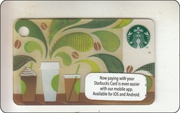 "Malaysia Starbucks Card  ""How To Make Coffee"" Mini  2014-6127 - Gift Cards"