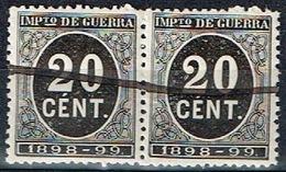 Impuesto De Guerra 1898-99, 20 Cts Pareja - Impuestos De Guerra
