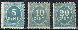 Impuesto De Guerra 1897-98, 5, 10 Y 20 Cts - Impuestos De Guerra