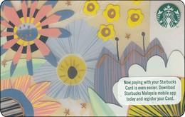 Malaysia  Starbucks Card  Summer Flower 2017-6148 - Gift Cards