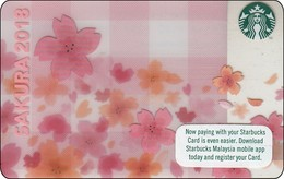 Malaysia  Starbucks Card  Sacura 2018 -  2017-6148 - Gift Cards