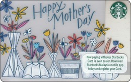 Malaysia  Starbucks Card  Happy Mother Day -  2017-6151 - Gift Cards