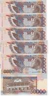 S. Tome E Principe - 5 Pcs X 50000 Dobras 1996 UNC P. 68a Lemberg-Zp - Sao Tomé Et Principe