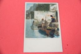 Lago Di Garda Limone Brescia Studio Artistico Firmata Da Illustratore Diemer Ed Ottmar Zieher NV - Italia