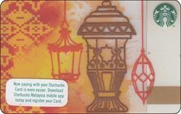 Malaysia Starbucks Card Ramadan Eid Mubarak 2017 -  2017-6138 RR - Gift Cards