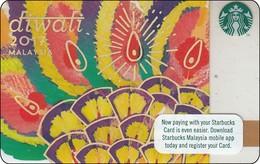 Malaysia Starbucks Card Diwali -  2017-6143 RR - Gift Cards