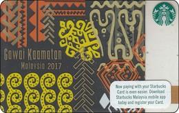 Malaysia Starbucks Card Gawai Kaamatan -  2017-6138 RR - Gift Cards