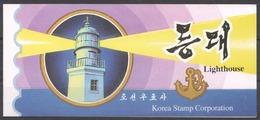 LSJP IMPERFORATE 2001 KOREA SHIPS & MARINE LIFE LIGHTHOUSE !!! 1 BOOKLET MNH - Korea, North