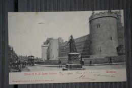 Cpa .Statue Of H.M. Queen Victoria 1914 Belle Carte. Windsor - Windsor