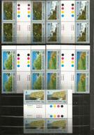 Paysages De L'île Pitcairn , 24 Timbres  Neufs **  Blocs De 4 Avec Bridge Central, Se-tenant - Timbres