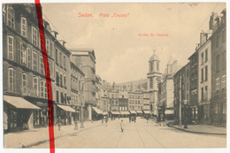 Sedan - Platz Crussy - Kirche Eglise St. Charles - 1916 - Briefstempel Etappen-Fuhrpark-Kolonne 6 - Etappen-Inspektion - Sedan