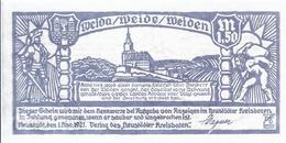 Notgeld - Neustadt - Orla - Sachsen Weimar Eisenach , Neustädter Kreisbote L,50 Mark Einzelschein Sehr Selten - NB135 - [11] Local Banknote Issues