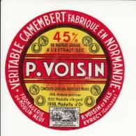 Etiquette De Fromage Camembert - P. Voisin - Evrecy - Calvados. - Fromage