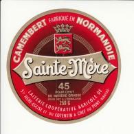 Etiquette De Fromage Camembert - Sainte Mère Eglise - Chef Du Pont - Manche. - Fromage