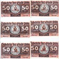 Notgeld - Plön - Schleswig Holstein - Wendenkriegsserie 6 X 50 Pfennige , Kpl. Serie - 6 Scheine  - NB137 - [11] Local Banknote Issues