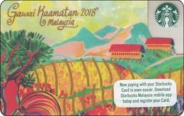 Malaysia Starbucks Card Gawai Kaamatan 2018 -  2017-6151 RR - Gift Cards
