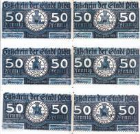 Notgeld - Plön - Schleswig Holstein - Wendenkriegsserie 6 X 50 Pfennige , Kpl. Serie - 6 Scheine  - NB138 - [11] Local Banknote Issues