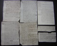 Varambon (Ain) Lot De 7 Documents Concernant L'affaire Jean Baptiste Pin Qui A Duré Plusieurs Années :différentes Dates - Manoscritti