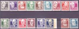 DDR 1952/53, Persönlichkeiten, Mi 327-333,335-336,338-341 + 339a,b + 329,332 Pelir Papier MNH** VF - [6] République Démocratique