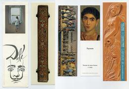 5 Marque-page Thème Art - Peinture, Reliure, Sculpture, Bas-relief, Salvador Dali, Fayoum... - Bookmarks