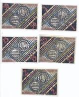 Notgeld - Paderborn - Westfalen , Der Tolle Christian - 25,50+75 Pfennig , 1  U. 2. Mark , Kpl. Serie     - NB194 - [11] Local Banknote Issues