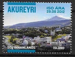 Islande 2012, N°1285 Neuf 150 Ans D'Akureyri Avec Erreur (29.08 2012) - 1944-... Republic