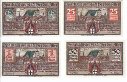 Notgeld - Verden Aller , Hannover  - 25,50 75 Pfennige , L Mark - 4 Scheine     - NB125 - [11] Local Banknote Issues