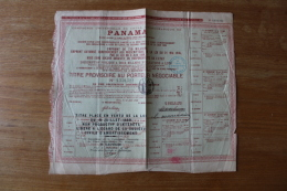 Action Ancienne  Panama   Canal  1888 - Actions & Titres