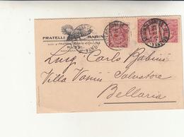 Castelbolognese Per Bellaria, Su Cartolina Postale Fratelli Babini Russi. 1923 Francobolli Perfin - 1900-44 Vittorio Emanuele III