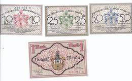 Notgeld - Weida Sachsen Weimar Eisennach - L0,25,50 Pfennige Und Seltene L Mark  , Komplett 4 Scheine  - NB123 - [11] Local Banknote Issues
