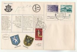 1967 ISRAEL Special SIGNED FDC Stamps Defence Cover - FDC