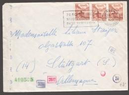 1944  Lettre De Bâle Pour Stuttgart  - Censure Allemande - Zum 257 X3 - Briefe U. Dokumente