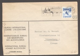 1942  Lettre De Lausanne Pour Strasbourg Zum 207 - Censure Allemande - Briefe U. Dokumente