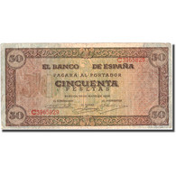 Billet, Espagne, 50 Pesetas, 1938, 1938-05-20, KM:112a, TB+ - [ 3] 1936-1975 : Régence De Franco
