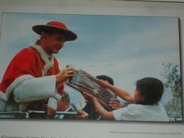 Papa PAOLO VI° Montini /in Colombia 23/8/68 - Madonna Della BEVERA - BARZAGO Lecco/ Fotografia - Santini