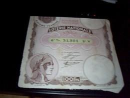 Ticket De Loterie Nationale 6 Eme   Tranche  De  1934 - Lottery Tickets