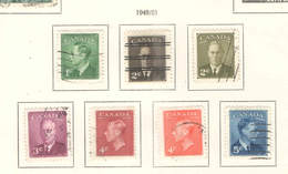 Canada PO 1949/51  King.George    Scott.289/293+305+306+ See Scan On Kabe Page; - 1937-1952 Regno Di George VI