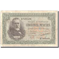 Billet, Espagne, 50 Pesetas, 1940, 1940-01-09, KM:117a, TB+ - [ 3] 1936-1975 : Régence De Franco