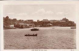 VIEW FROM THE SEA, ADEN. EGYPTIAN CIGARRETES FACTORY. MS LEHEN & CO. CIRCA 1940's- BLEUP - Yémen