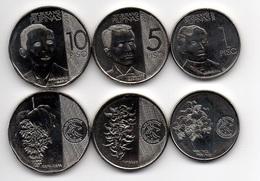 Philippines - 1 5 10 Piso 2017 UNC Set 3 Coins Ukr-OP - Philippines
