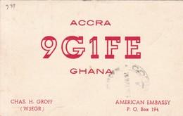 ACCRA 9G1FE GHANA QSL RADIO HAM CIRCULEE 1964 A TACUAREMBO URUGUAY- BLEUP - Radio-amateur