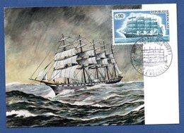 """Carte Premier Jour / Cinq Mats """" France II """"   / La Rochelle   / 9-6-1973 - Maximum Cards"""