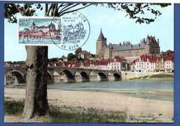 Carte Premier Jour / Château De Gien   /  Gien   / 18-8-1973 - Maximum Cards