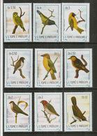 Passereaux D'Afrique.  9 Timbres Neufs ** De Sao Tomé. Côte 22,50  € EUR (Yv.783/91) - Songbirds & Tree Dwellers